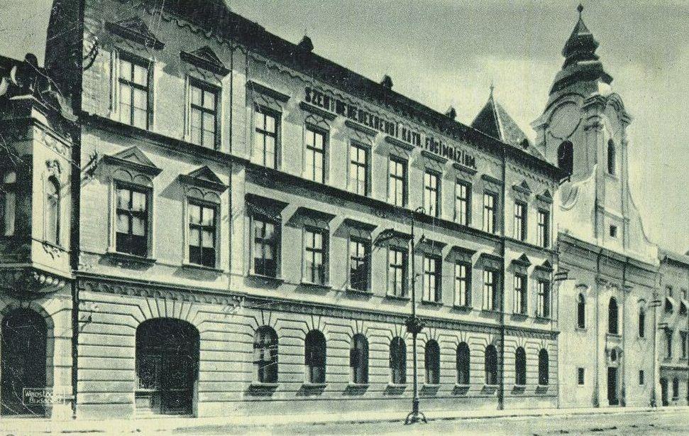 A Bencés Gimnázium épülete (1949)