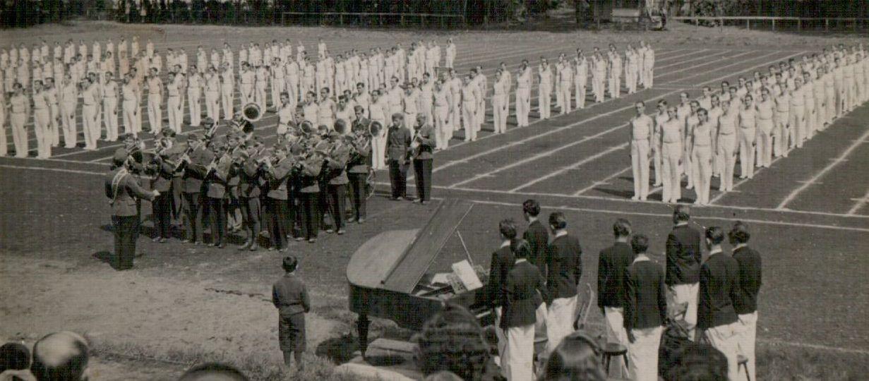Sport ünnepély a Ligeti Sporttelepen (1940-es évek)